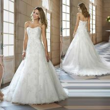New White/Ivory Lace Wedding dress Bridal Gown Custom Size 6-8-10-12-14-16