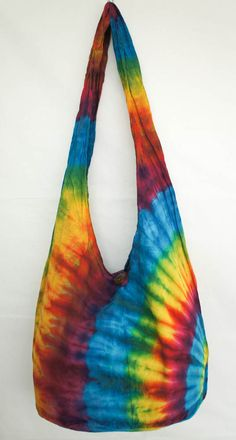YAAMSTORE morning rainbow handmade Tie die sling bag by yaamstore, $11.99