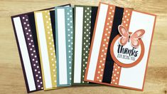 In Color Card Set – Jason Loucks, Independent Stampin' Up! Scrapbooking, Scrapbook Cards, Cute Cards, Diy Cards, Washi Tape Cards, Thanks Card, Butterfly Cards, Card Sketches, Copics