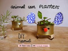 misako mimoko: DIY project: Recycled tuna cans planters tutorial