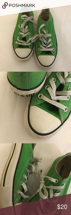 Lime green converse sneakers Lime green converse sneakers gently used washable! Great wear condition Converse Shoes Sneakers