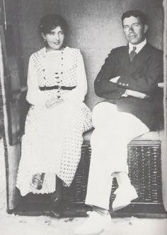 Gustaf VI Adolf of Sweden | Crown Princess Margaret and Crown Prince Gustaf Adolf of Sweden, 1918.