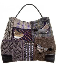 Sew your own knitted patchwork handbag. ~ ij