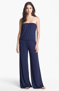Tart 'Valerie' Strapless Blouson Jersey Jumpsuit available at #Nordstrom