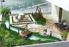 Indoor Garden Design Pictures - Modern Home Office Design Ideas Garden Design Ideas On A Budget, Garden Design Pictures, Home Garden Design, Small Garden Design, Patio Design, Home And Garden, Inside Garden, Labyrinth Design, Amazing Gardens