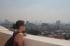 Vistas desde Golden Mountain, Bangkok