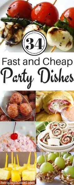 Easy Appetizer Recipes to Impress! 34 Fast Party Pleasing Dishes 34 Easy and Cheap Meals to Impress at any Party. Most of these recipes are under 5 ingredients and can easily be whipped together on any busy work night! More from my site Ugly Dip Easy Potluck Recipes, Easy Appetizer Recipes, Easy Snacks, Easy Meals, Appetizer Dishes, Cheap Recipes, Easy Potluck Dish, Appetizer Party, Dinner Recipes