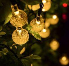 Solar LED Lichterkette 20 LED Warmweiß Party Garten Dekoration  Außenbeleuchtung In Garten U0026 Terrasse, Beleuchtung, Lichterketten Für  Draußen
