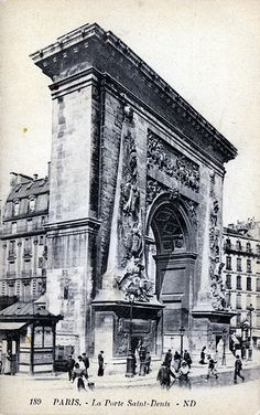 Built in La Porte Saint Denis, Paris, France Belle Epoque, Tour Eiffel, Paris France, Old Photos, Vintage Photos, Art Nouveau, Vintage Architecture, Ville France, Old Photography