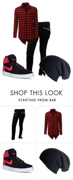 """boys"" by drea97-1 on Polyvore featuring Gucci, LE3NO, NIKE, Black, men's fashion and menswear"