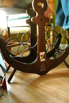 anchor wine rack good for bar area with nautical theme