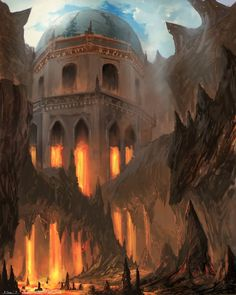 Minus the fire, the Crystal Citadel (or even better, the citadel during Camus' coupe)