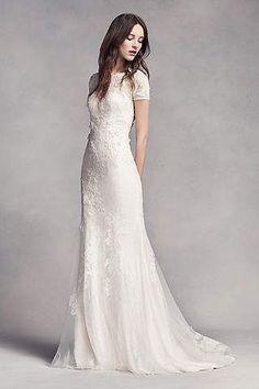 View Cap Sleeves Long Wedding Dress at David's Bridal