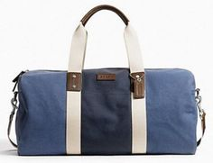 Coach Heritage Web Canvas Pieced Striped Roll Colorblock Duffle Bag Weekender Luggage Blue Denim F93234