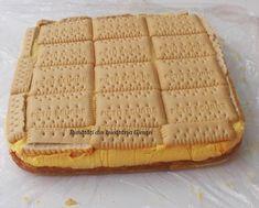 Prajitura cu biscuiti, mere si crema de vanilie - Bunătăți din bucătăria Gicuței Biscuit, Deserts, Bread, Food, Cookie Favors, Cookie, Desserts, Biscuits, Dessert