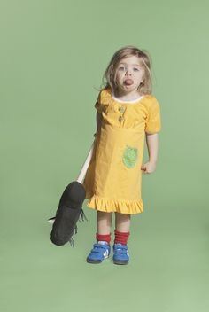 Popliini Dress- Yellow Polkadots