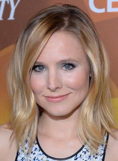 Kristen Bell medium hairstyle for fine hair