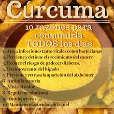 Conoces la cúrcuma? Esta es considerada la madre de las especies, pues nos regala en concentraciones muy altas muchísimos beneficios antioxidantes, anticancerígenos, hepatoprotectores y bienestar general. Healthy Lifestyle, Health And Nutrition, Health And Wellness, Health And Beauty, Health Talk, Health Fitness, Healthy Tips, Healthy Snacks, Healthy Recipes