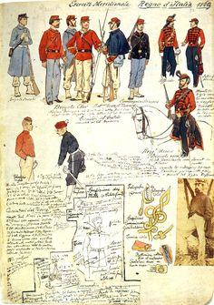 Uniforms, 1869 Italy