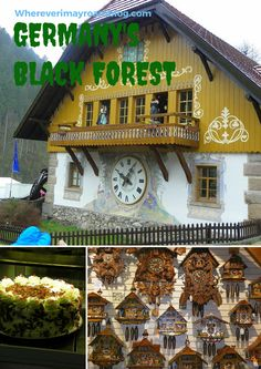 Exploring Germany's Black Forest and watching live demonstrations for preparing black forest cake, glass blowing, and cuckoo clocks.