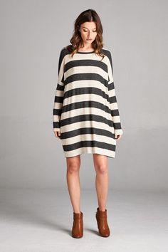 Stripe Time Tunic Dress #JessLeaBoutique