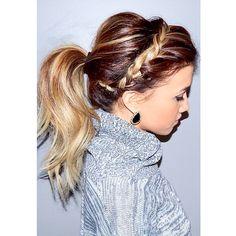 Braided headband ponytail ❄️#blohaute #braid #ponytail #mobilesalon #chicago #blowout #blowdry #instahair #instabraid #braidphotos #braidposting #fave4hair #hairstyles #holidayhair