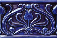 Tile Borders from Victorian Ceramics. Authentic, reproduction Victorian tiles for walls, fireplaces and porches