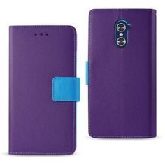 Reiko ZTE Grand X Max 2/Z988 3-IN-1 Wallet Case in Purple With Interior Leather Polymer And Stand Function