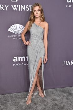 Model Josephine Skriver attends the 19th Annual amfAR New York Gala at Cipriani Wall Street on February 8, 2017 in New York City.