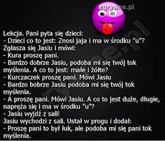LOLfobia: Kawały o Jasiu...:) Polish Memes, Weekend Humor, Smile Everyday, Imagine Dragons, Wtf Funny, Good Mood, Life Lessons, Haha, Jokes