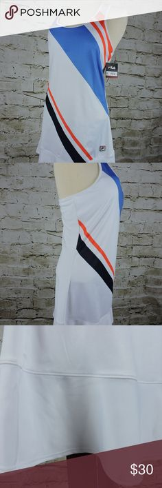 "Fila Sports Womens Tennis Dress NWT Tru Dry Vent Fila Sports Womens Tennis Dress Size Medium Tru Dry Vent Shelf Bra Racer Back New With Tags! 90% Polyester 10% Spandex MSRP $55.00  Shoulder to Shoulder: 11""(27.94 cm) Underarm to Underarm: 17""(43.18 cm) Shoulder to Hem: 33""(83.82 cm) Fila Dresses Mini"