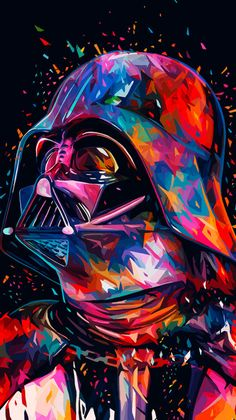 Colorful Darth Vader Wallpaper