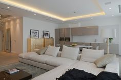 Modern open plan apartment decor