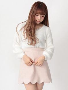スカラップ裾台形スカート