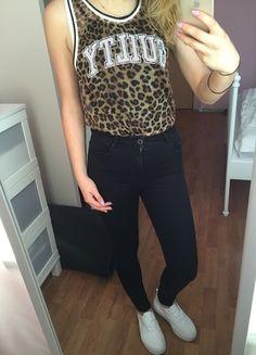 Kup mój przedmiot na #vintedpl http://www.vinted.pl/damska-odziez/koszulki-na-ramiaczkach-koszulki-bez-rekawow/10292418-koszulka-siateczka-panterka-tally-weijl