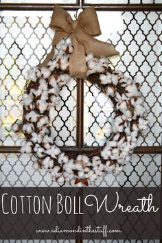 Cotton Boll Wreath {Tutorial} The perfect Fall wreath!