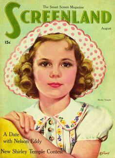Temple Shirley - Screenland Magazine Cover, 1930's
