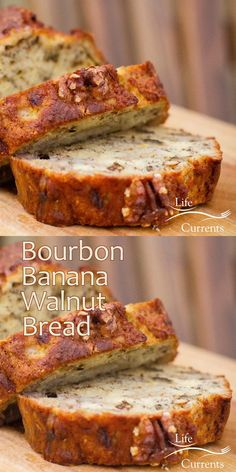 Bourbon Banana Walnut Bread – full flavored, moist, sweet quick bread is a great way to use older bananas, and it's great for a special breakfast.