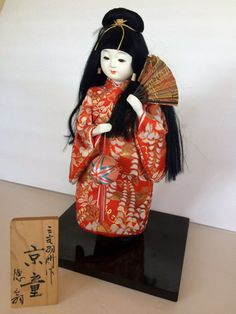 Geisha Girl Japanese Doll Authentic porcelain by TizaVintage