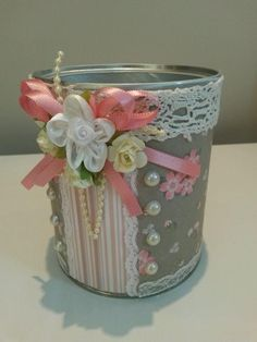 Latas de leche decoradas - DIY
