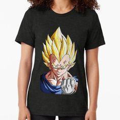 Vegeta Tri-blend T-Shirt Vegeta Shirt, Sell Your Art, Female Models, Dragon Ball, T Shirts For Women, Fabric, Mens Tops, Cotton, Stuff To Buy