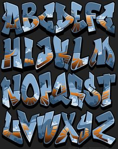 Image of Graffiti Font - Outsourced Image of Graffiti Font - Outsourced Lettering Styles Alphabet, Graffiti Alphabet Styles, Graffiti Lettering Fonts, Graffiti Designs, Graffiti Characters, Graffiti Styles, Graffiti Text, Graffiti Doodles, Graffiti Wall Art