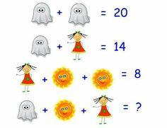 The answer is 16 Algebra Activities, Maths Puzzles, Math Games, Teaching Math, Logic Math, Math Problem Solving, Maths Starters, Reto Mental, Math Genius