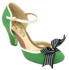 Apple Green Kitten Heels by jacqueline