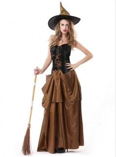 Woman Adult Witch Halloween Costume #halloween #costume #witch www.loveitsomuch.com