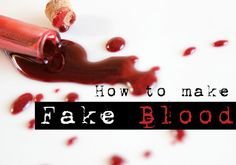 We break out the best DIY fake blood recipe for different uses. And we included our fake blood color spectrum to show a solid range of blood color choices. Holidays Halloween, Scary Halloween, Happy Halloween, Halloween Party, Halloween Decorations, Halloween Stuff, Halloween Rocks, Halloween 2017, Holiday Crafts