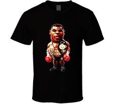 Mike Tyson Cartoon Boxer Cool Retro Boxing Fan T Shirt