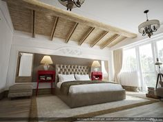 Rustic Modern Decorating Rooms For Men With Classic Chandelier And Elegant Lamps Desk The Bedside Including Letaher Headboard Plus White Beding Set As Well Gray Rug On Wooden Floor Decorating Bedrooms for Men In Smart and Simple Ways Bedroom design