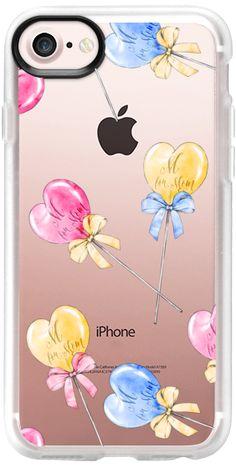 Casetify iPhone 7 Classic Grip Case - Cute Lollipops Mother's Day Pink Yellow Blue Summer by Karamfila Siderova