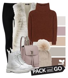 """""""Baby it's Cold Outside"""" by maicyny ❤ liked on Polyvore featuring Wolford, Harrods, Loro Piana, Inverni, Dr. Martens and Packandgo"""